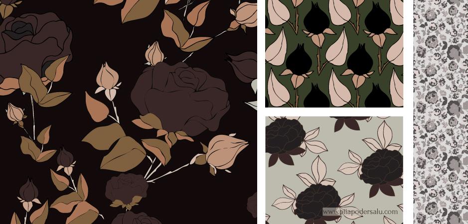 Mixed Flowery Pattern Designs by Piia Podersalu