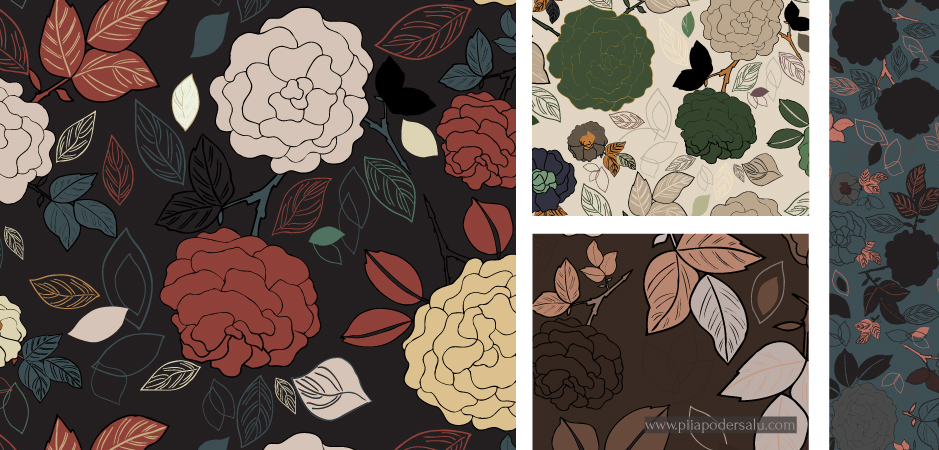 Fall Florals Pattern